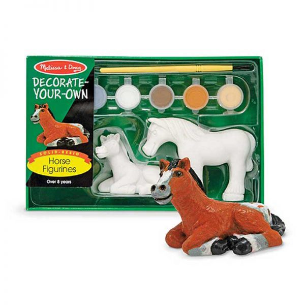Melissa and Doug Decorate Your Own Horse Figurines Craft Set 5
