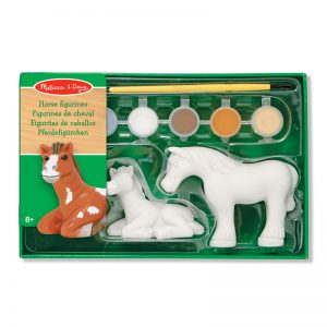 Melissa & Doug Decorate Your Own Horse Figurines Craft Set