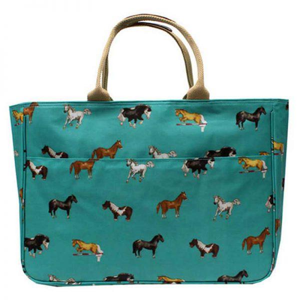 Milly Green Horses Weekender Bag