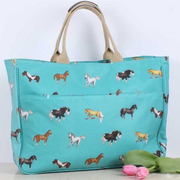 Milly Green Horses Weekender Bag Lifestyle
