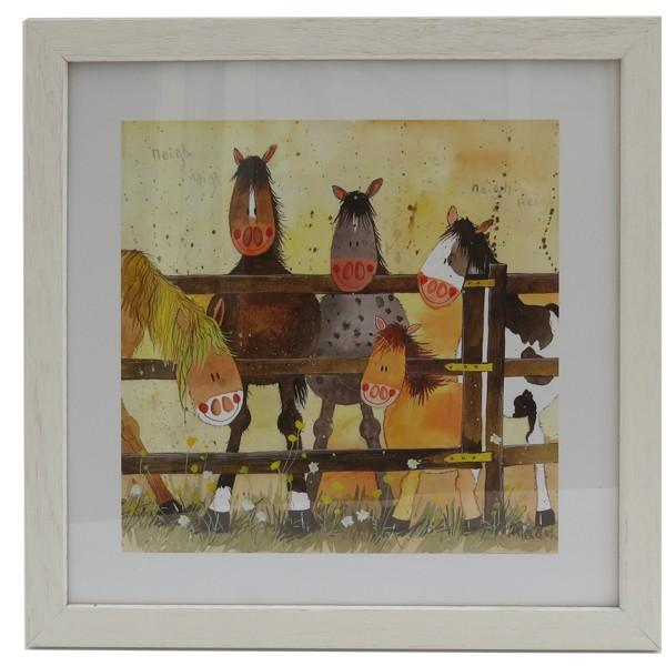 Ponies Framed Print - Alex Clark Art