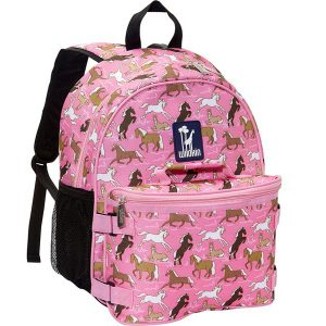 Wildkin Backpack & Lunch Bag - Pink Horses