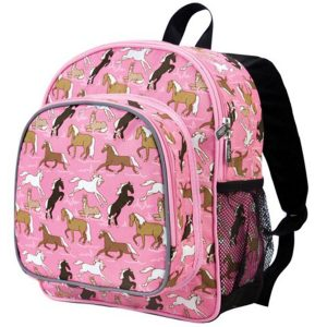 Wildkin Children's Small Backpack - Pink Horses
