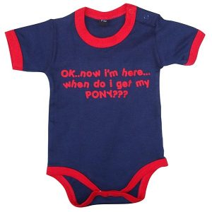 When do I get my Pony Navy Baby Grow