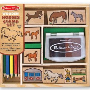 Horses Wooden Stamp Set - Melissa and Doug