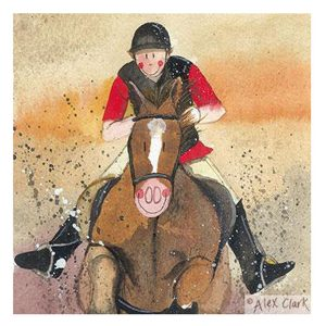 Stirrups Horse Greetings Card - Alex Clark Art