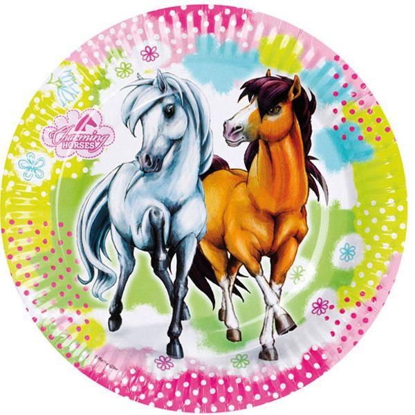 Charming Horses Pony Party Plates