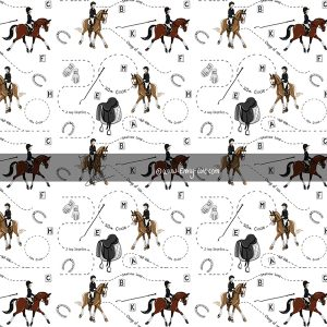 Dressage wrapping paper - Emily Cole Illustrations