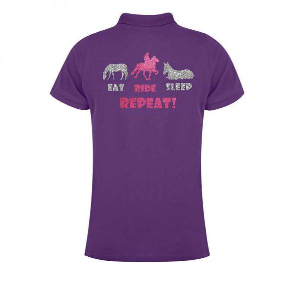 Eat, Ride, Sleep, Repeat Ladies Polo Shirt