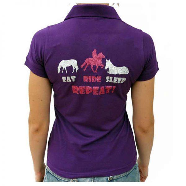 Eat, Ride, Sleep, Repeat Ladies Polo Shirt Lifestyle