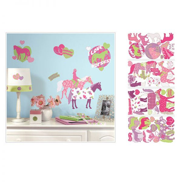 horse crazy wall stickers