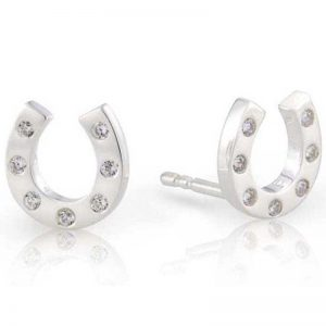 Gemma J Sparkly Hoof Equestrian Earrings