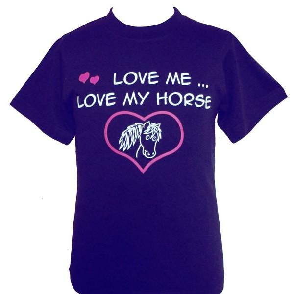 Love Me Love my Horse Children's T Shirt