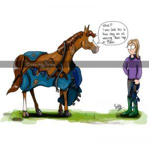 Rug Fashion Horse Card - Emily Cole Illustrations