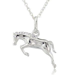 Gallop Collection Jumping Horse Pendant