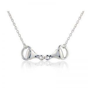 Silver Snaffle Equestrian Necklace