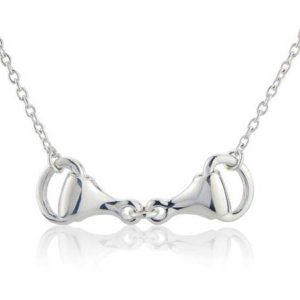 Gallop Collection silver snaffle equestrian necklace