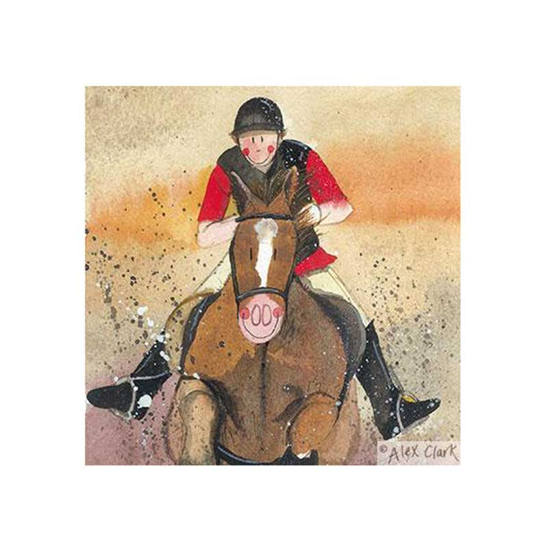 Stirrups Horse Greetings Card - Alex Clark Art