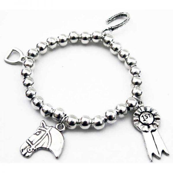 Children's Multi Charm Stretch Equestrian Bracelet