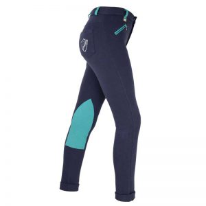 HyPerformance Belton Children Jodhpurs - navy with teal