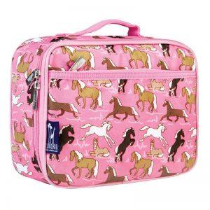 Wildkin Pink Horses Kids Lunch Box