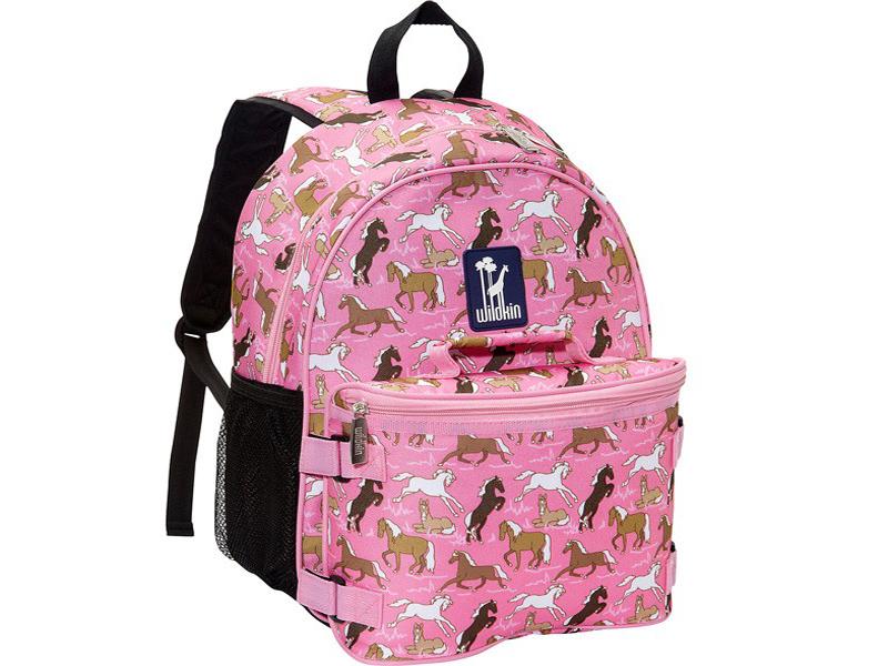 Wildkin Backpack & Lunch Bag – Pink Horses