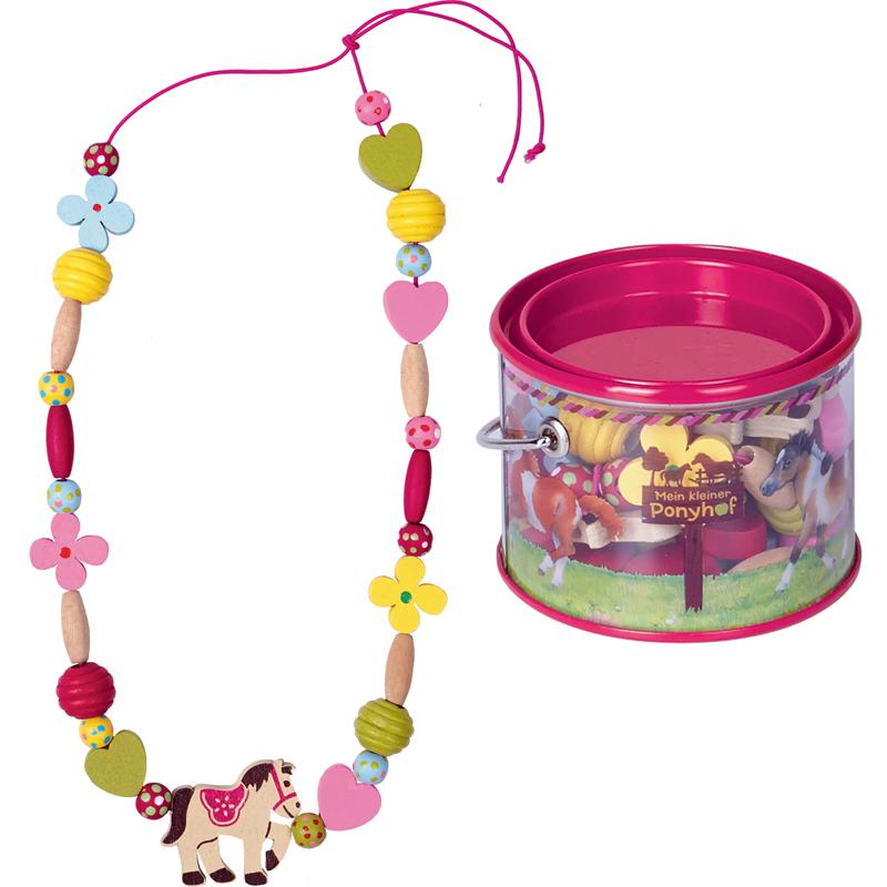 Pony Wooden Beads Set