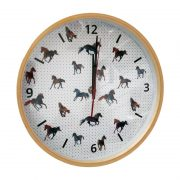 Majestic Horses Wooden Frame Clock - Front