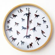 Majestic Horses Wooden Frame Clock - Photo 3