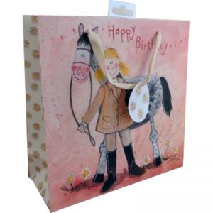 Girl and Horse Gift Bag