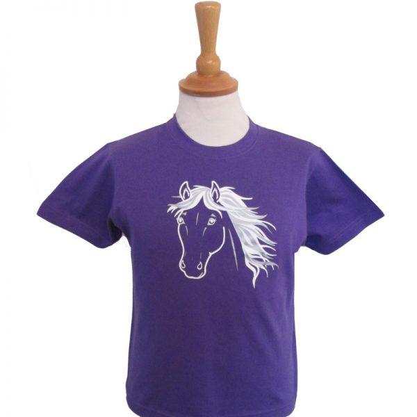 Silver Horse Children's T Shirt
