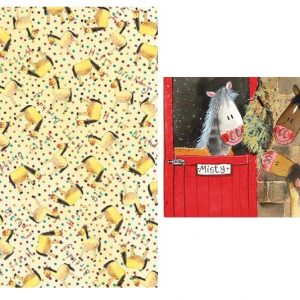 Spotty Pony Gift Wrap Service with Mini Greetings Card