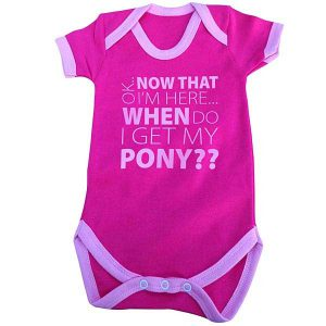 Pink When do I get my Pony Baby Grow