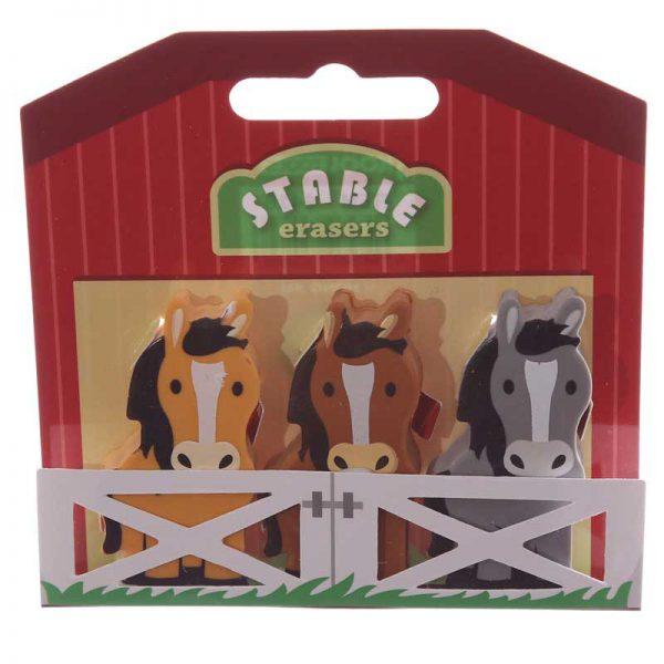 Set of Pony Erasers