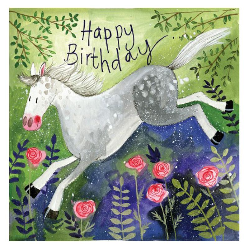 Rosie Horse Happy Birthday Card Alex Clark Art