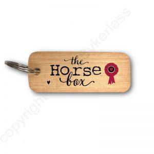 The Horse Box Keyring - Wooden