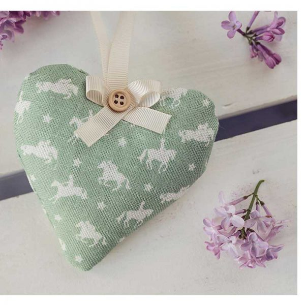 Equestrian Fabric Hanging Horse Heart