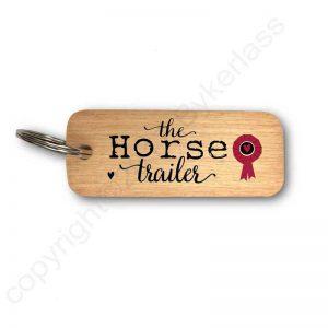The Horse Trailer Keyring