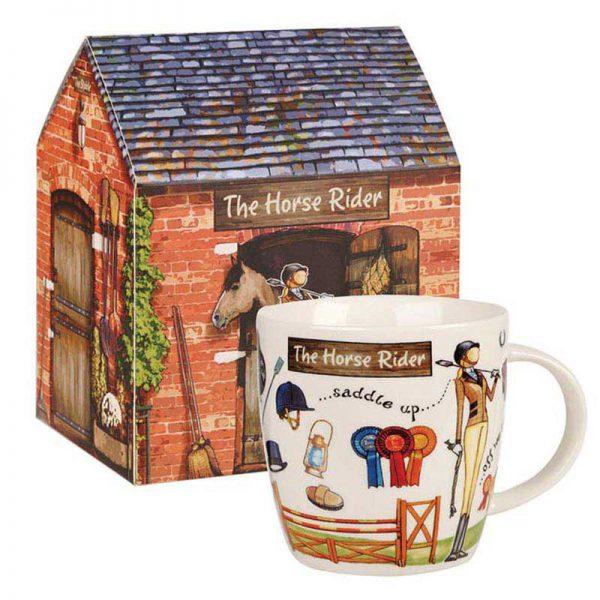 Horse Rider Mug in Stable Gift Box