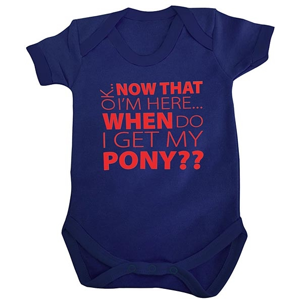 When do I get my Pony Navy Baby Grow