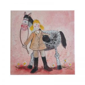 Girl and Horse Small Canvas