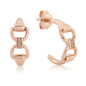 Rose Gold Sparkly Bit Earrings