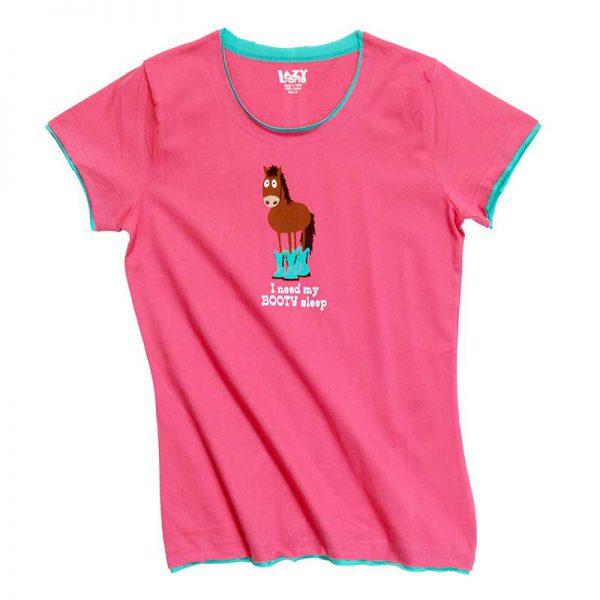 Lazyone Womens Booty Sleep Pyjamas - T Shirt