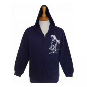 Navy Flash Design Children's Zip Hoodie
