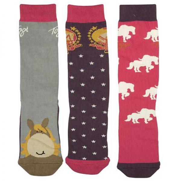 Toggi Wilkes Pony Children's Riding Socks - Pack of 3