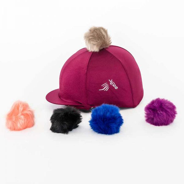 Perton Maroon Hat Silk With Two Pom Poms