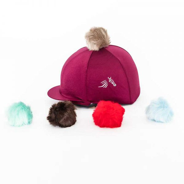 Perton Maroon Hat Silk With Two Changeable Pom Poms