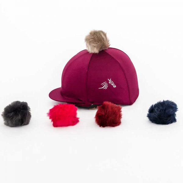 Perton Maroon Hat Silk - Two Pom Poms
