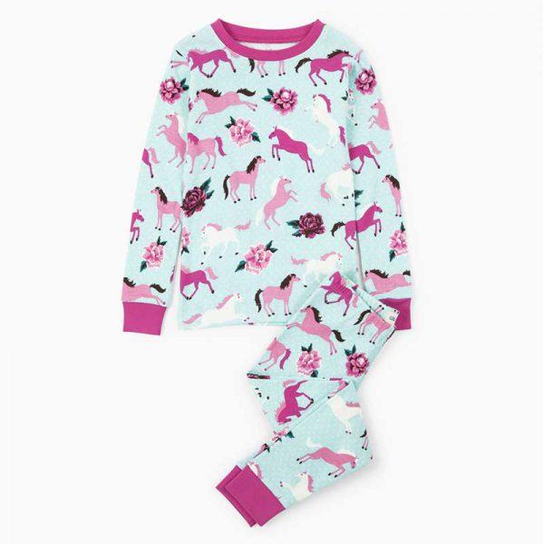 Ponies and Peonies Children's Pyjamas